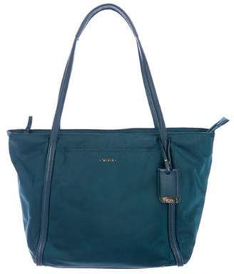 Tumi Leather-Trimmed Tote gold Leather-Trimmed Tote