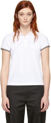 Moncler White Logo Polo