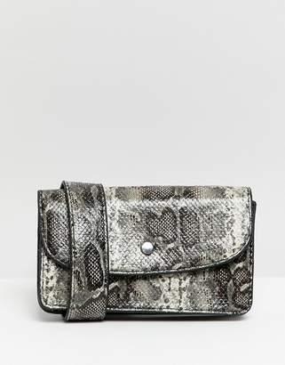 Bershka snake print belt bag