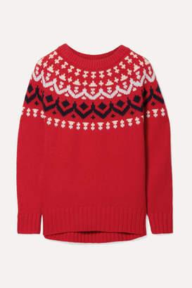 J.Crew Ivan Fair Isle Merino Wool-blend Sweater - Red