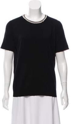 Karl Lagerfeld Embellished Knit Top