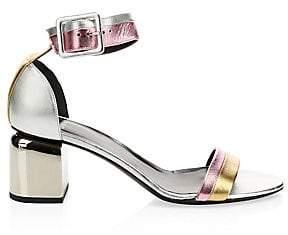 Pierre Hardy Women's Metallic Block Heel Sandals