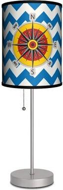 "Pagano Ebern Designs Nautical Compass Rose 19"" Table Lamp Ebern Designs"