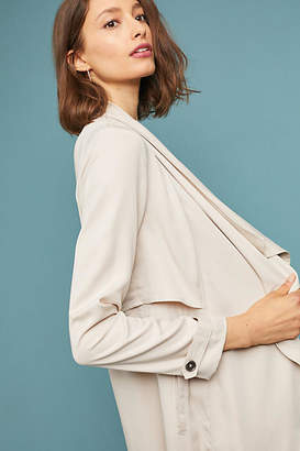 Cupcakes And Cashmere Angela Draped Trench Coat