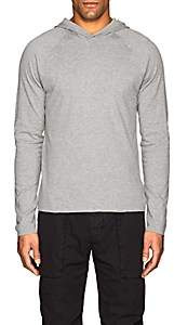 James Perse MEN'S COTTON JERSEY REVERSIBLE HOODIE-GRAY SIZE 3