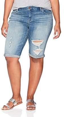 Lucky Brand Women's Plus Size Mid Rise Ginger Bermuda Short