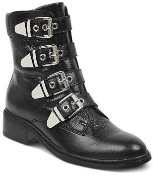 Marc Fisher Women's Diante Buckled Leather Military Booties