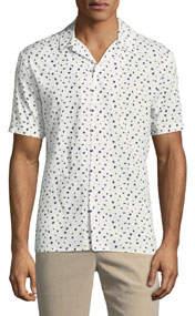 Short-Sleeve Printed Sport Shirt