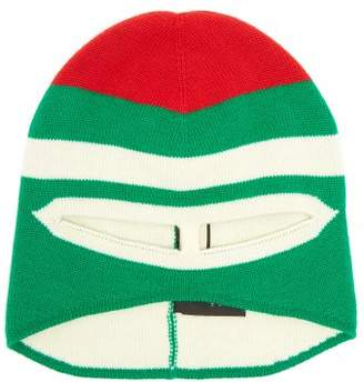 Gucci Striped Wool Balaclava - Womens - Green