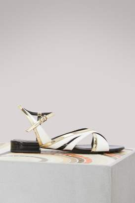 Lanvin Flat bicolore sandals
