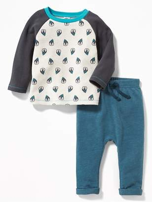 Old Navy French-Terry Raglan Tee & Pants Set for Baby
