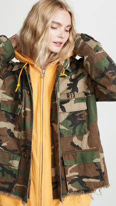 R 13 Camo Abu Jacket with Long Hoodie