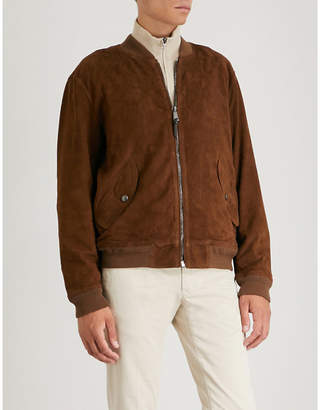 Polo Ralph Lauren Gunners suede bomber jacket