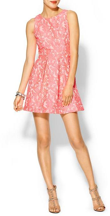 Eight Sixty Electric Floral Mini Dress