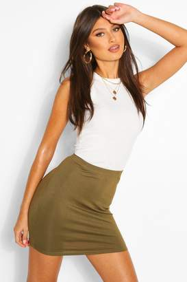 boohoo Basic Jersey Mini Skirt