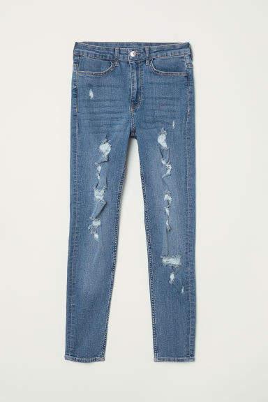 H&M - Petite Fit Super Skinny Jeans - Blue