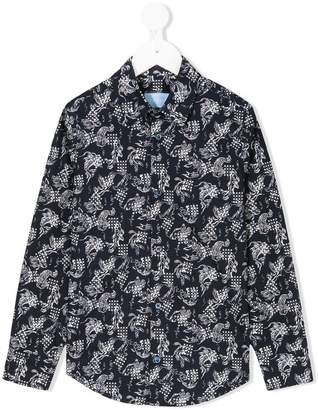 Lanvin Enfant fish print dress