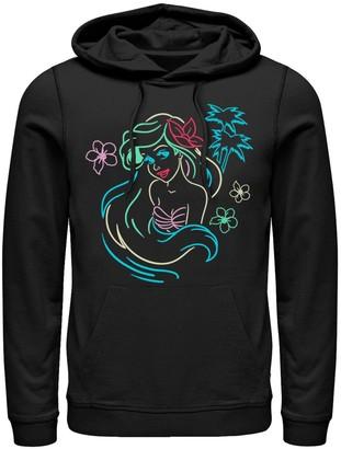 Men's Disney Little Mermaid Neon Pullover Hoodie