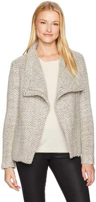Cupcakes And Cashmere Women's Dallas Textured Wool Blend Zip Jacket