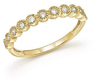 Bloomingdale's Diamond Milgrain Bezel Stacking Band in 14K Yellow Gold, .25 ct. t.w. - 100% Exclusive