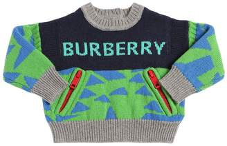 Burberry Cashmere Knit Intarsia Sweater