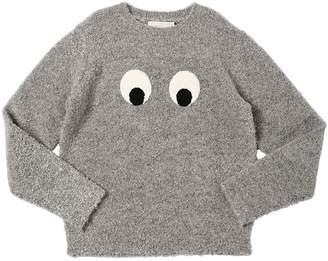 Stella McCartney Eyes Techno Boucle Knit Sweater