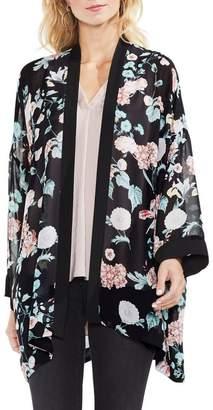 Vince Camuto Floral-print Chiffon Kimono