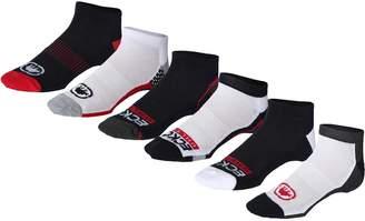 Ecko Unlimited Unltd. Mens 6PK Quick Dry No Show Socks B/W