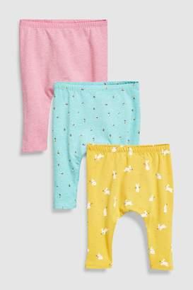 Next Girls Multi Printed Leggings Three Pack (0mths-2yrs)