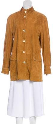 Loro Piana Leather Short Coat