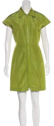 Prada Zip-Up Mini Dress