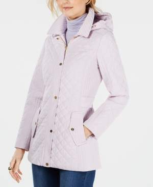 Jones New York Petite Quilted Hooded Coat