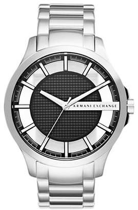 Armani Exchange Analog Hampton Stainless Steel Watch