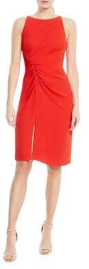 Halston Pleated Sheath Dress