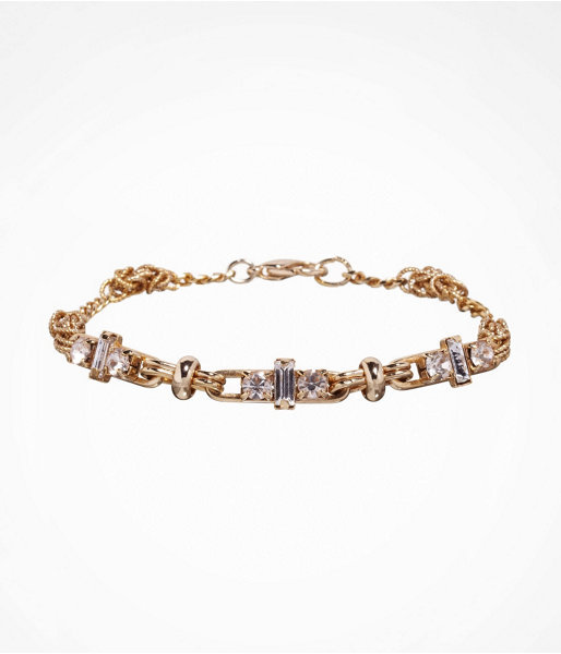 Express Rhinestone And Knotted Link Bracelet