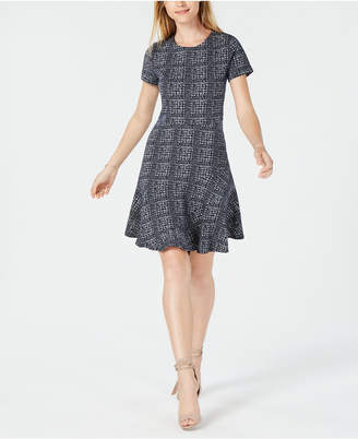Maison Jules Plaid Fit & Flare Dress, Created for Macy's