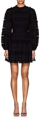 Ulla Johnson Women's Amour Embellished Cotton-Blend Peasant Dress - Black