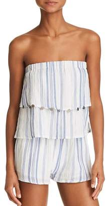 Surf Gypsy Bali Stripe Romper Swim Cover-Up