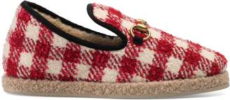 Gucci Women's check tweed loafer
