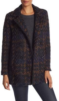 Desigual Plaid Coat