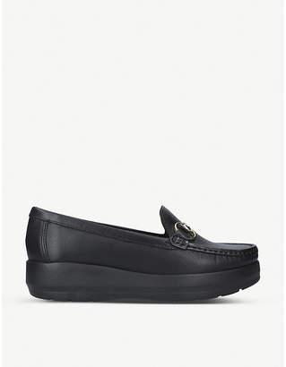 Carvela Comfort Chaz leather flatform loafers