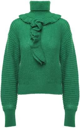 Kenzo Ruffled Mohair And Alpaca-blend Turtleneck Sweater