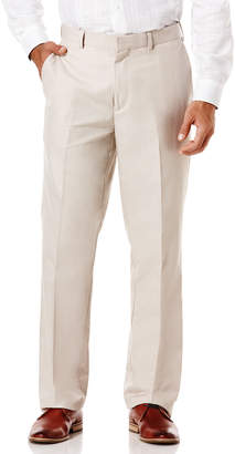 Cubavera Big & Tall Cotton Linen Herringbone Flat Front Pant