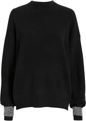 Alexander Wang Crystal Cuff Black Sweater
