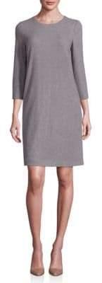 Peserico Cotton Herringbone Shift Dress
