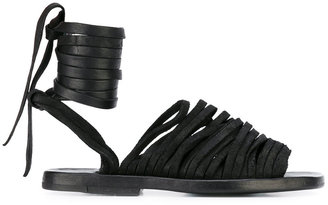 Dimissianos & Miller ankle lace-up flat sandals
