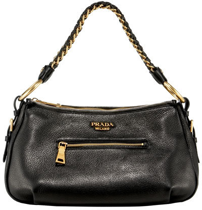 Prada Chain-Handle Hobo