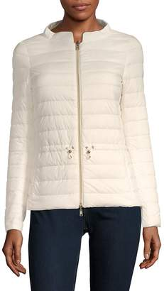 P.A.R.O.S.H. Women's Mockneck Reversible Puffer Jacket