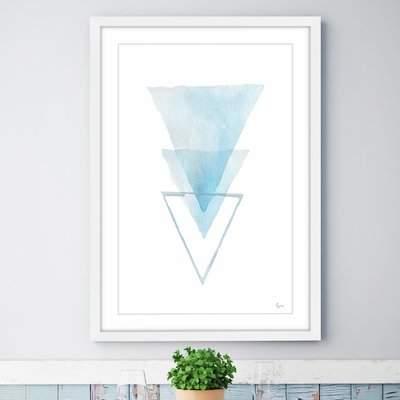 Wayfair 'Inverted Iceberg' Framed Watercolor Painting Print