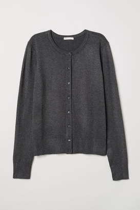 H&M Fine-knit Cardigan - Black